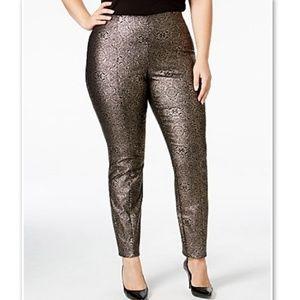 "Alfani ""Rose Shimmer"" Deco Brocade Pants"
